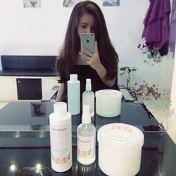 bộ sản phẩm gel, gội, tinh dầu mọc tóc