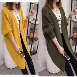 Áo khoác len tay bo form dài