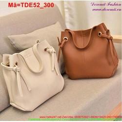 Set 2 túi đeo đi chơi dây rút và ví cầm tay đáng iu TDE52