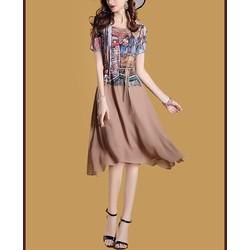 Đầm xòe họa tiết thời trang