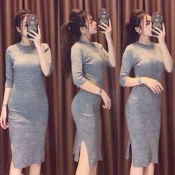 Đầm ôm  body xẻ đùi cực xinh