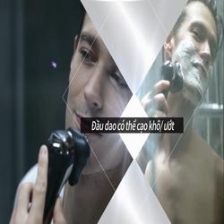 2 Máy cạo râu đa năng: cắt tóc, tỉa lông, vệ sinh da mặt