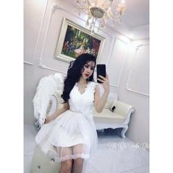 Đầm công chúa phối ren