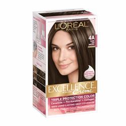 Thuốc nhuộm tóc L Oréal Excellence Creme, 4A Dark Ash Brown