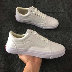 Giày full trắng cổ thấp van s kiểu mới hot giày thời sneaker nam nữ