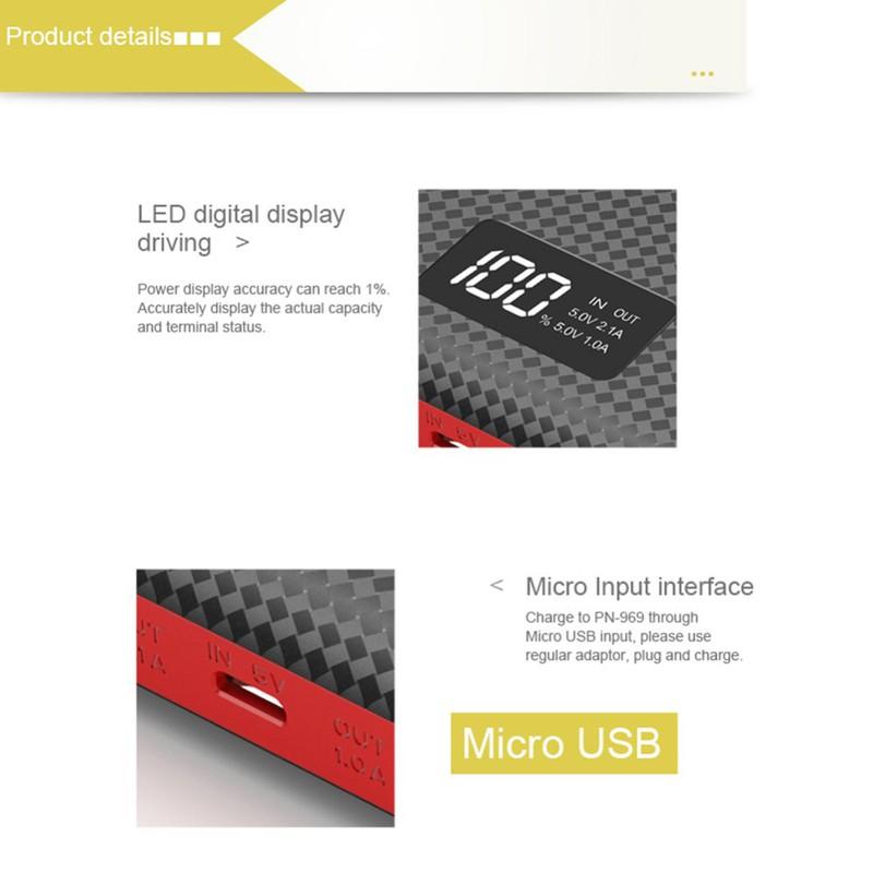 Pin sạc dự phòng chính hãng Li Polymer LED display Pineng PN-969 4