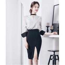 💓HÀNG NHẬP - Set áo sơ mi + chân váy body sang trọng - CK3151365