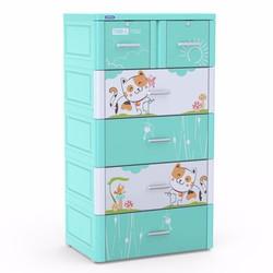 Tủ nhựa Duy Tân TABI-L 5 tầng Dương Mèo Tam Thể_ freeship tphcm