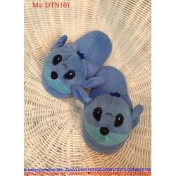 Dép mang trong nhà thú bông hình stick xanh nổi bật DTN101