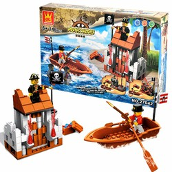 BỘ ĐỒ CHƠI LẮP GHÉP MÔ HÌNH LEGO LOẠI LỚN CƯỚP BIỂN CARIBE