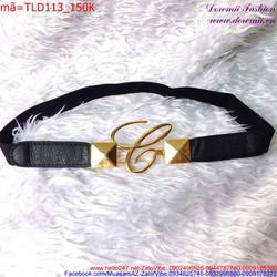 Thắt lưng mang đầm móc khóa chữ C thời trang sành điệu TLD113