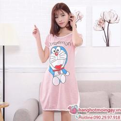 Đầm ngủ hoạt hình doremon