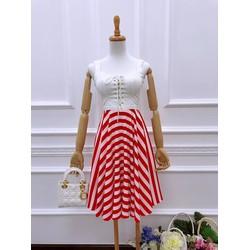 Đầm ren xoè đan dây ngực