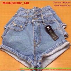 Quần short jean nữ lưng cao form chuẩn