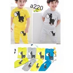 Sỉ lẻ 3 bộ quần áo bé trai 1-5 tuổi