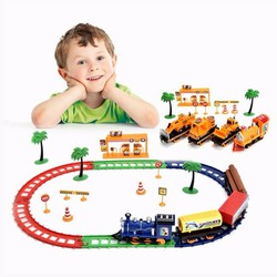 Bộ đồ chơi mô hình tàu lửa chạy pin độc đáo, ngộ nghĩnh