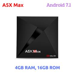 Android TV box chính hãng A5X Max - 4GB RAM, 16GB ROM, Android 7.1