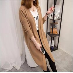 Áo khoác len form dài phối túi