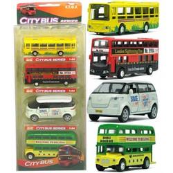 Bộ Mô Hình Xe Bus Bằng Sắt