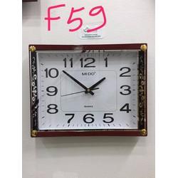 Đồng hồ treo tường hình vuông - Trang Trí Nhà Cửa F59A
