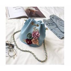 Túi đeo chéo nữ thời trang, đính hoa trẻ trung, mẫu túi mới nhất