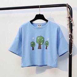 áo Croptop hình 3 cây