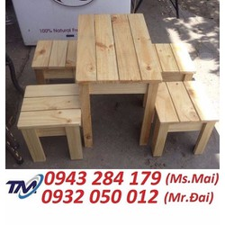 Bàn ghế gỗ cafe take away giá rẻ.