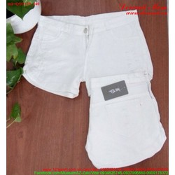 Quần short kaki jean trắng sành điệu