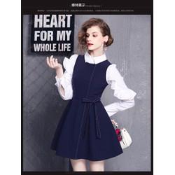 Hàng nhập cao cấp - Set áo sơ mi yếm váy