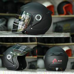 Mũ Bảo Hiểm Asia Đen Nhám M168