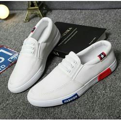 Giày lười trắng fashion