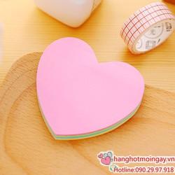 combo 2 giấy note hình trái tim