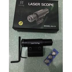 Đèn laser scope tia đỏ chỉnh tâm có kẹp nòng