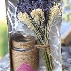 Hộp quà tặng sinh nhật hoa lavender khô nhỏ