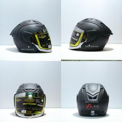 Mũ Bảo Hiểm Asia Gù Đen Nhám M115
