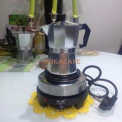 Bộ ấm pha cà phê moka express 150 ml 3 tách kèm bếp điện