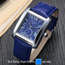 Đồng hồ nam dây da mặt chữ nhật có lịch Chenxi Ze98 có 5 màu lựa chọn