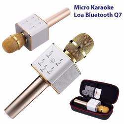 Mic-Micro kèm Loa hát Karaoke 3 trong 1Tuxun q7 chính hãng bluetooth