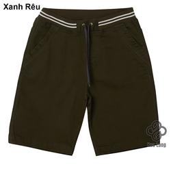quần short kaki lưng thun nam cao cấp đẹp có big size xanh rêu