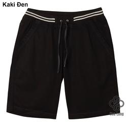 quần short kaki lưng thun nam cao cấp đẹp có big size đen