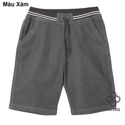 quần short jean lưng thun nam đẹp có big size Xám