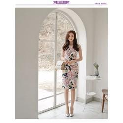 HÀNG NHẬP - ĐẦM BODY HOA DỰ TIỆC MS9238- T260