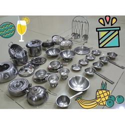 Bộ đồ chơi nấu ăn inox Nhật Bản 46 món