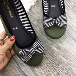 Giày Búp Bê Nơ Sọc