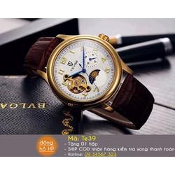 Đồng hồ cơ Automatic Tevise Dây da cao cấp