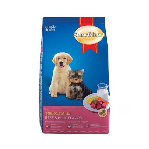 Thức ăn cho chó con dưới 1 tuổi smartheart puppy bao 8kg