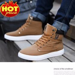 Giày Bốt Nam Thời Trang Cá Tính - Mẫu Mới 2017 Cực Chất Logo Chữ H