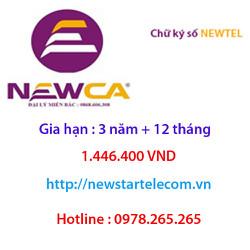 Chữ ký số Newtel gia hạn 3 năm