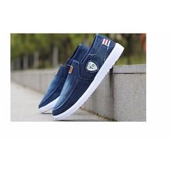 Giày nhập - Giày lười nam vải jeans cao cấp - 46532 - Giày lười nam