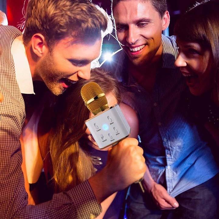 Mic-Micro kèm Loa hát Karaoke 3 trong 1Tuxun q7 chính hãng bluetooth 2